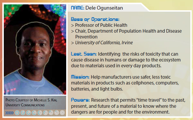 "TMS Foundation includes Dr. Ogunseitan in the ""League of Materials Superheroes"""