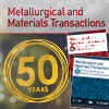 Read Metallurgical and Materials Transactions 50th Anniversary Articles